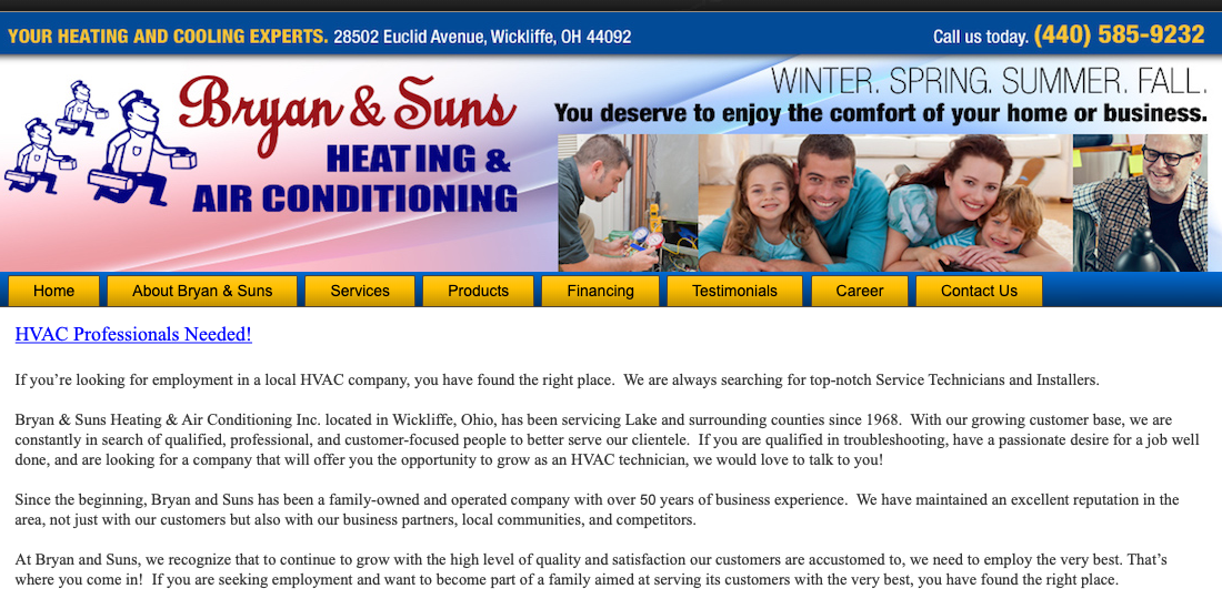 Bryan & Suns Heating & Air Conditioning